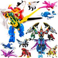 邦宝神兽金刚4四玩具6合体变形机器人套装麒麟雄狮凤凰青龙邦宝历险记