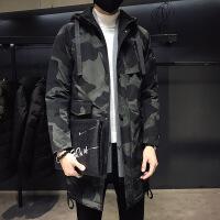 迷彩棉衣男中长款韩版大码男士2018新款棉大衣秋冬季加厚外套