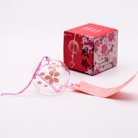 日本日式玻璃樱花风铃创意家居卧室挂件和风挂饰门饰女生生日礼物礼品