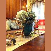 欧式新古典奢华家居装饰花瓶 电视柜玄关新中式冰裂纹陶瓷摆件SN0871
