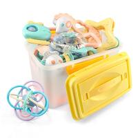 摇铃牙胶宝宝6-12个月手抓球玩具手摇铃0-3个月