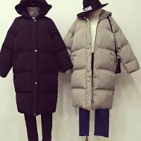 羽绒棉衣女中长款韩版潮bf风学生冬季韩国ulzzang棉袄潮连帽外套