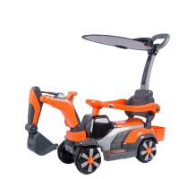 勾机玩具可坐人 儿童电动挖掘机玩具车挖土机可坐可骑大号钩机男孩不带遥控工程车 送豪华礼物