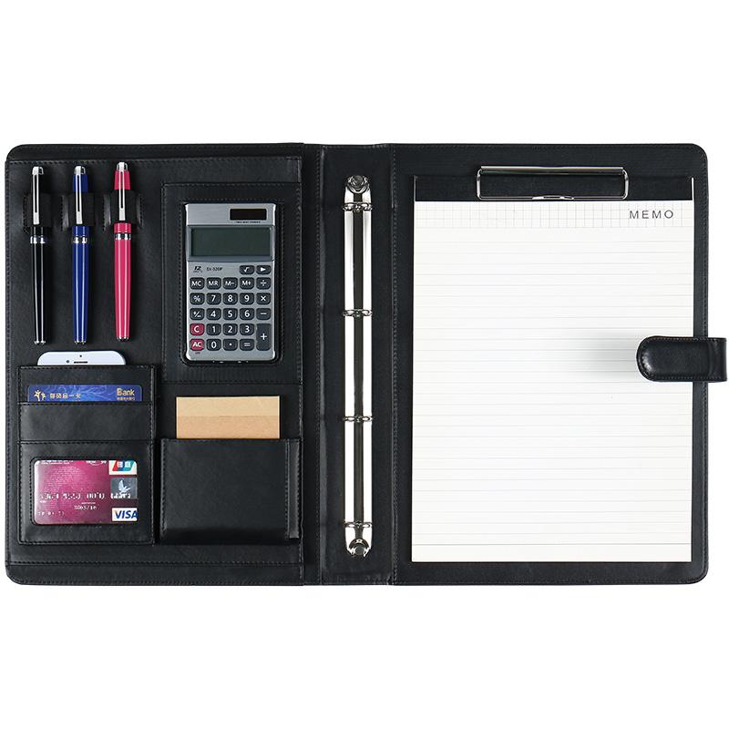 a4文件夹板多功能文件夹男谈单本展业夹文具