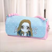 韩版可爱大容量女生笔袋小清新多功能多层女孩文具袋创意铅笔盒