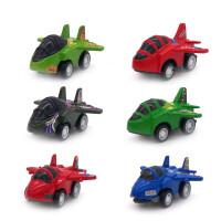 儿童迷你回力小汽车工程车飞机模型玩具套装男孩玩具车宝宝惯性车