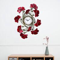 欧式墙饰挂饰铁艺壁饰壁挂3D立体蝴蝶时钟相框壁饰创意家居装饰品