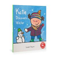 英文原版 Katie In Winter 冬天的凯蒂 低幼绘本 0-6岁 儿童图画书 亲子阅读