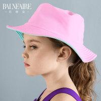 范德安新款儿童泳帽2018女童泳帽可爱女男童遮阳防晒泳帽游泳装备