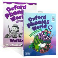 英文原版 Oxford Phonics World 4: Student Book e-book 新版 2册练习册牛津