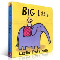 英文原版绘本Big Little 名家Leslie Patricelli幼儿启蒙纸板童书
