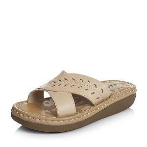 Teenmix/天美意夏季专柜同款牛皮女拖鞋AM75TBT6