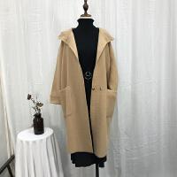 L@26 2.08斤冬季中长休闲连帽毛呢大衣韩版时尚气质呢子外套