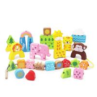 宝宝力玩具1-3岁穿线串珠子积木制小男孩女孩早教绕珠2-3-6岁