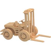 3d立体拼图木质工程车模型儿童木制DIY手工拼装玩具