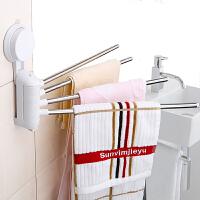 吸盘毛巾架卫生间浴室不锈钢厕所置物架