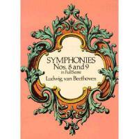 【预订】Symphonies Nos. 8 and 9 in Full Score