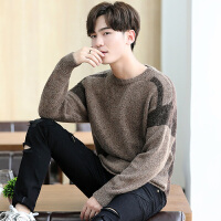 毛衣男秋冬季圆领韩版潮流宽松毛线衣青少年套头针织衫