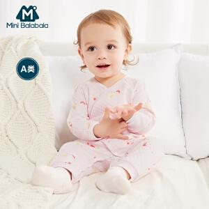 迷你巴拉巴拉婴儿和尚服内衣新生儿连体服儿童宝宝保暖连体衣爬服