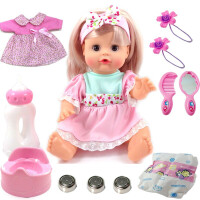 会说话的智能娃娃套装婴儿洋娃娃儿童女孩玩具可喂奶仿真娃娃
