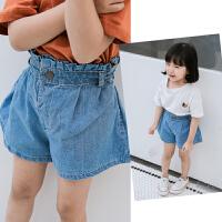 女童花边高腰短裤2018夏装新款儿童休闲牛仔短裤宝宝外穿洋气裤子