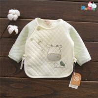 刚出生的婴儿衣服秋冬新生儿保暖上衣0-3个月2初生宝宝和尚服