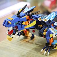 3-6岁儿童玩具男孩遥控积木恐龙玩具电动战龙大号仿真动物