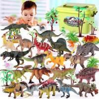 恐龙玩具仿真恐龙蛋模型儿童动物男孩套装三角龙霸王龙塑胶大号软