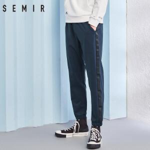 森马休闲裤男2018春季新款裤子男士潮流男裤韩版个性学生小脚裤