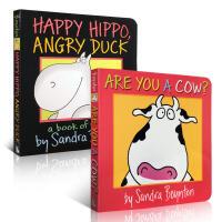 英文原版少儿图书 Sandra Boynton 经典绘本2本套装纸板书 儿童进口正版启蒙早教 睡前故事图画书籍