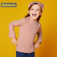巴拉巴拉童装女童针织衫儿童毛衫冬装2017新款小童宝宝纯色毛衣女