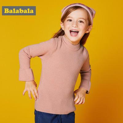 巴拉巴拉童装小童宝宝毛衣儿童毛衫春秋2018新款韩版女童针织衫女