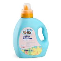 韩国Sanita U-ZA 婴儿衣物柔顺剂柔软剂1.3L瓶装 宝宝衣物防静电