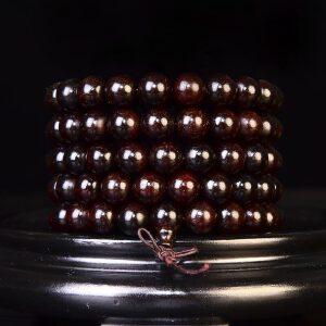 带星 印度小叶紫檀佛珠手链10mm