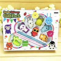 韩版幼儿园小学生卡通学习文具套装动物橡皮擦礼品铅笔礼物盒批发 8205 款式随机