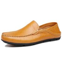 DAZED CONFUSED男鞋新款豆豆鞋春季男士休闲皮鞋鞋子男透气驾车鞋套脚皮鞋英伦潮板