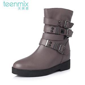 Teenmix/天美意 专柜同款牛皮女休闲靴6A363DZ5