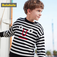 巴拉巴拉宝宝毛衣男童童装儿童毛衫秋冬新款套头加绒针织衫男