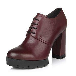Belle/百丽春季专柜同款经典百搭牛皮女单鞋BHQ21AM6