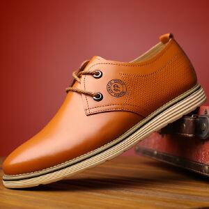 2017春季新款男鞋时尚英伦圆头系带休闲鞋单鞋皮鞋子商务休闲男士正装鞋子2195BBS支持