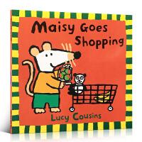 英文原版绘本 Maisy Goes Shopping 小鼠波波 廖彩杏推荐童书 儿童启蒙阅读亲子互动 英语训练辅导阅读