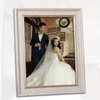 欧式结婚纱照相框挂墙24寸32寸36寸放大创意冲印洗照片加相框定做