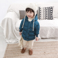 棉小班男童2018新款冬装儿童棉衣韩版连帽1-3岁宝宝加厚外套