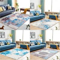欧式田园地毯客厅沙发茶几垫风格卧室床边毯可水洗