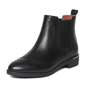 【百丽集团夏季大促,5.28准时开抢】Belle/百丽冬专柜同款油皮牛皮女短靴BMT45DD6