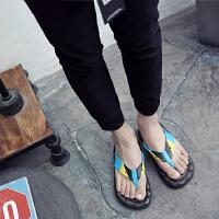 男士拖鞋男夏人字拖男潮沙滩鞋男厚底夏季男凉鞋2018新款个性防滑