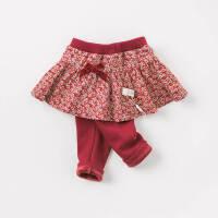 [3折价:59.1]加绒戴维贝拉秋冬装新款女童裤子宝宝裙裤DBM8647-2