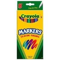 美国[Crayola绘儿乐]8色细头水彩笔 马克笔(经典色)58-7709