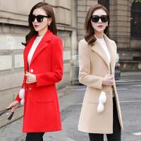 冬季外套女2018新款韩版流行毛呢大衣中长款秋冬女装修身呢子外套