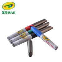 绘儿乐crayola4色易擦白板粗头水彩笔软头儿童绘画玩具98-8902